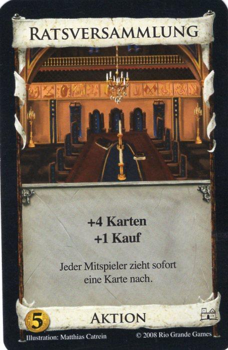 Dominion Basisspiel 2. Edition Ratsversammlung