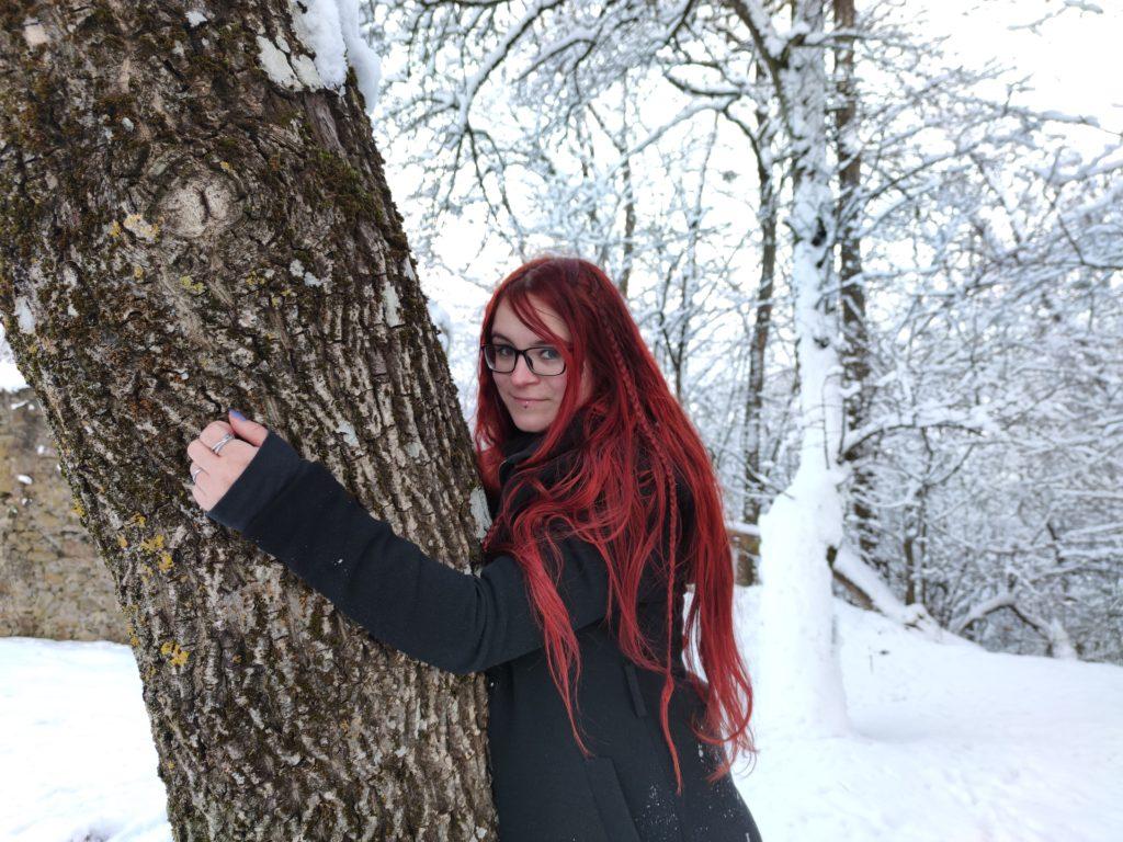 Kessy bei der TreeHugChallenge